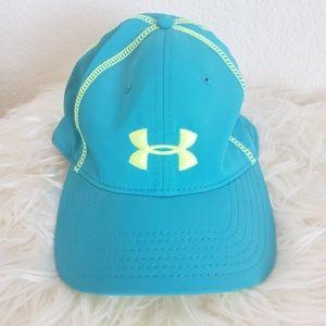 Under Armour Baseball Cap Blue & Lime Green O/S